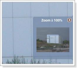Picasa : Encadré de zoom.