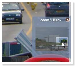 Picasa : Déplacement du zoom via l'encadré.